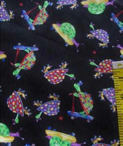 1 yd turtles snail roller skate skateboard