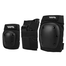 3 in 1 Youth and Kids Knee Pads Elbow Pads Wrist Guards Adju
