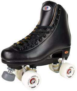 Riedell 111 Fame Men Size 4-13 Indoor Rink Roller Skates Bla