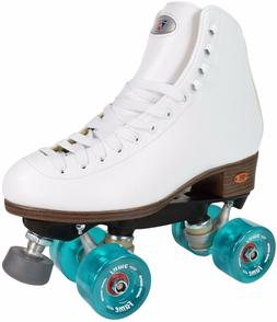 Riedell 111 Fame Roller Skates High Top Artistic Skate Clear