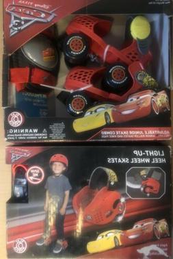 2 Disney Pixar Cars Playwheels Adjustable Junior Skates & He