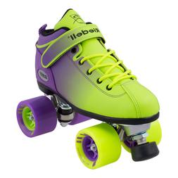 Riedell 2 Tone Dart Green & Purple Ombre Quad Roller Speed S