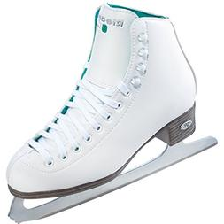 Riedell 10 Opal/Kids Beginnner Figure Ice Skates/Color: Whit