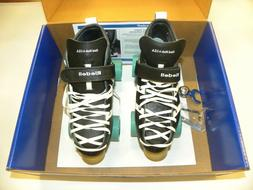Riedell 265 Fuse Speed Derby Skates Black Size 7 w ATOM Juke