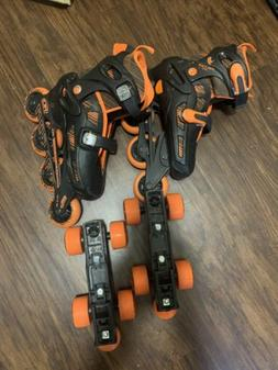 Roller Derby 2N1 Boys Inline and Quad Skate Combo Black/Red