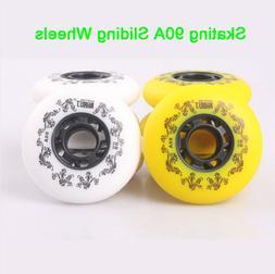 4 Piece 90A Sliding inline skates wheels 72/76/80mm Freestyl