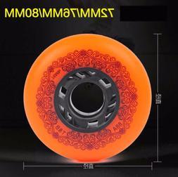 4 Piece Quality 88A Sliding Inline Skates Wheels 72/76/80mm