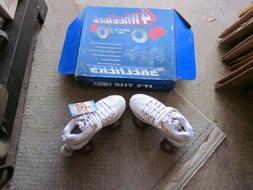 SKECHERS SPORT 4 Wheelers Roller Skates White Women's Size 8