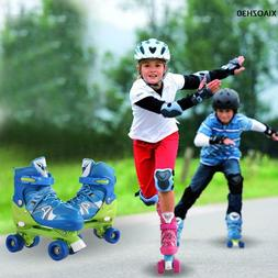 4 Wheels Roller Skates Two Size Children Double Row Shoes Sl