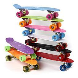 4 Wheels Skateboard Deck Mini Cruiser Skate Fish Long Board