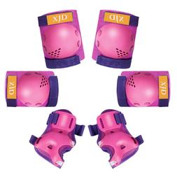 6pcs black roller skates cycling knee elbow