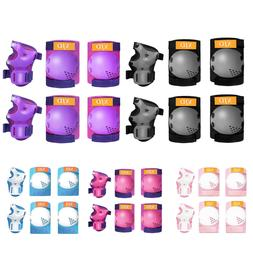 6Pcs Roller Skates Cycling Knee Pads Elbow Pads Wrist Guards