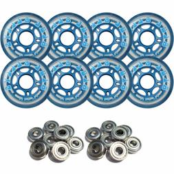BLUE BELLYS 76mm 78a Roller Inline Skate Wheels with ABEC 5