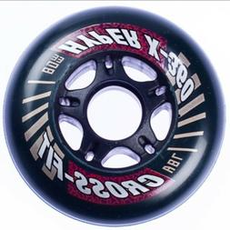 8-Pack 80mm Inline Skate Wheels - Indoor Outdoor 78a Rollerb