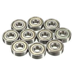 8mm Roller Skate Bearings - Silver Chrome Steel ABEC 7 Pack