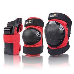 JBM international Adult / Child Knee Pads Elbow Pads Wrist