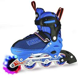 Crazy Skates Adjustable Inline Skates with Light Up Wheels  