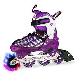 Crazy Skates Adjustable Inline Skates with Light Up Wheels |