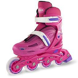 Crazy Skates Adjustable Inline Skates for Girls |Beginner Ki