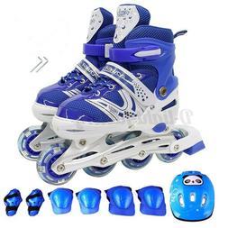 Adjustable Inline Roller Skates Blades Wheels Gifts for Kids