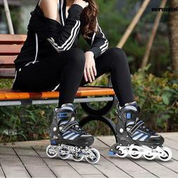 Adjustable Inline Skate Rollerblade Roller Blades Boots PU W