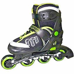 Mongoose Adjustable Inline Skates- Green, Green/Gray/Black,
