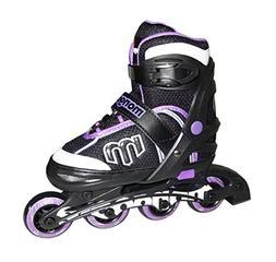 Mongoose Adjustable Inline Skates- Purple, Purple/Gray/Black