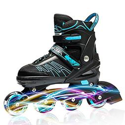 IUU Sports Adjustable Inline Skates for Kids and Adults, Rol