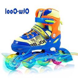 Otw-Cool Adjustable Inline Skates for Kids Boys Skates with