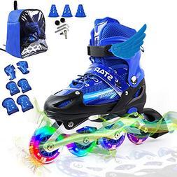 PETUOL Kids Adjustable Inline Skates, Safe and Durable Fitne