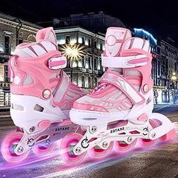 Aceshin Adjustable Inline Skates for Kids, Safe and Durable,