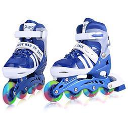 Adjustable Inline Skates Kids Featuring Lightweight Roller S