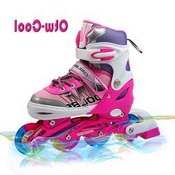 Otw-Cool Adjustable Inline Skates for Kids Girls Rollerblade
