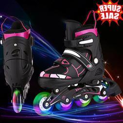 Adjustable Inline Skates Roller Blades Adult Size 2-8 Breath