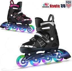 Adjustable Inline Skates Roller Blades Adult Size 8-10.5 Bre