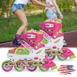 Adjustable Inline Skates Roller Blades Kids Girls Breathable