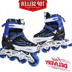 Adjustable Inline Skates Roller Blades Light up Wheel Breath