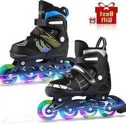 Adjustable Inline Skates Roller Blades Unisex Adult Kids Bre