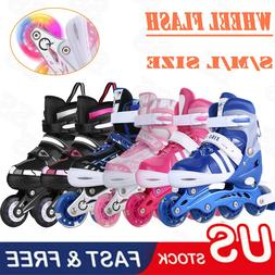 Kids Inline Skates Adjustable Roller Blades Shoes Sport Skat