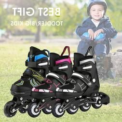Adjustable Inline Skates Roller Blades Unisex Adult Kids Bre