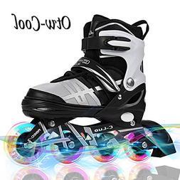 Otw-Cool Adjustable Inline Skates Kids Adults Rollerblades A
