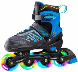 adjustable inline skates with all light up