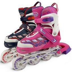 Eliiti Adjustable Kids Inline Skates for Girls Boys Size 13J