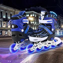 ANCHEER Inline Skates Adjustable with Light Up Wheels Beginn