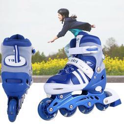 Adjustable Kids Roller Blades Inline Skates Kid Skate Light
