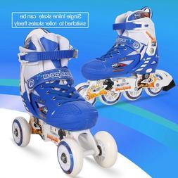 Adjustable Kids Roller Blades Inline Skates Light Up Size 13