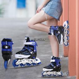 adjustable kids roller blades inline skates light