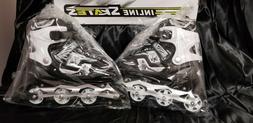 Adjustable Kids Roller Blades Inline Skates Size 6-8 BLACK F