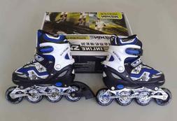 Adjustable Kids Roller Blades Inline Skates Size 3-5 BLUE FR