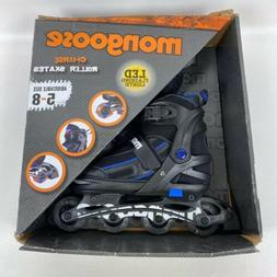 Mongoose Adjustable Light-Up Inline Skates- Blue and Black-